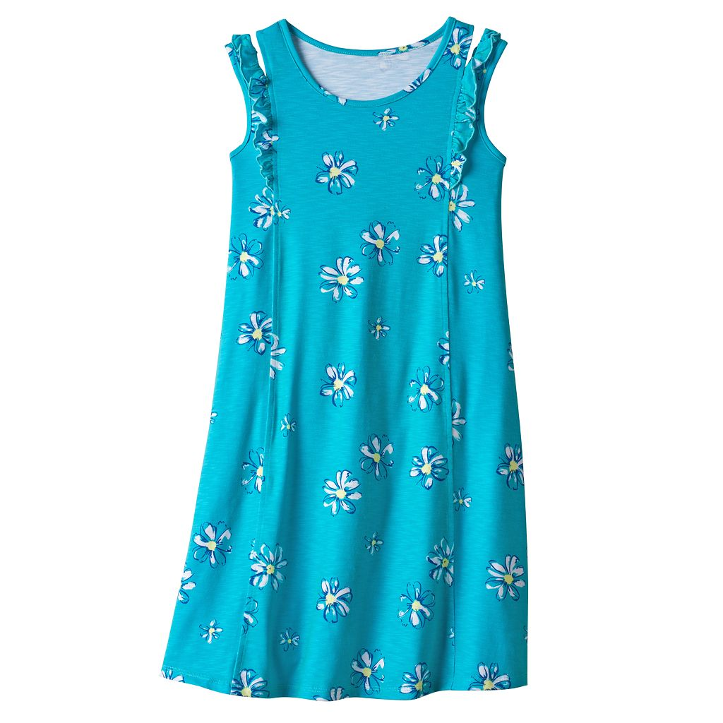Girls 7-16 & Plus Size SO® Patterned Ruffle Shoulder Knit Dress