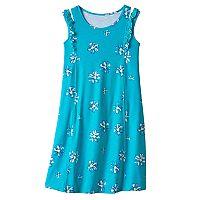 Girls 7-16 & Plus Size SO® Patterned Ruffle Shoulder Knit Dress