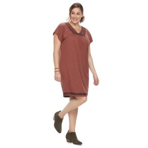 Plus Size SONOMA Goods for Life™ Embroidered T-Shirt Dress