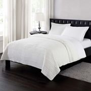 London Fog Reversible Crinkle Quilt Set
