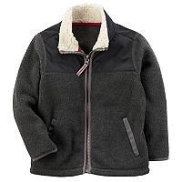 Toddler Boy Carter's Zip-Front Sherpa Jacket