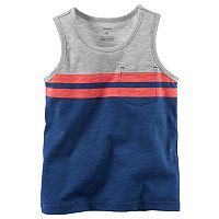 Baby Boy Carter's Slubbed Colorblock Striped Pocket Tank Top