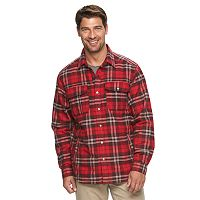 Big & Tall Columbia Fireside Flame Classic-Fit Plaid Shirt Jacket