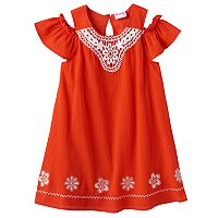 Girls 4-6x Nannette Embroidered Off-the-Shoulder Gauze Dress