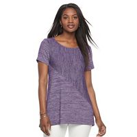 Women's Croft & Barrow® Asymmetrical Handkerchief Tee