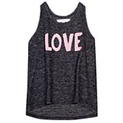 Girls 7-16 Harper & Elliott Brushed Hatchi Graphic Tank Top