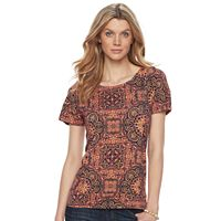 Women's Dana Buchman Dolman Mixed-Media Top