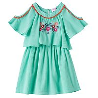 Girls 4-6x Nannette Embroidered Cold-Shoulder Gauze Dress