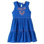 Toddler Girl Nannette Embroidered Tiered Dress