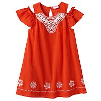 Toddler Girl Nannette Embroidered Off-the-Shoulder Gauze Dress