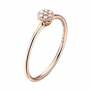 LC Lauren Conrad 10k Gold Diamond Accent Flower Ring