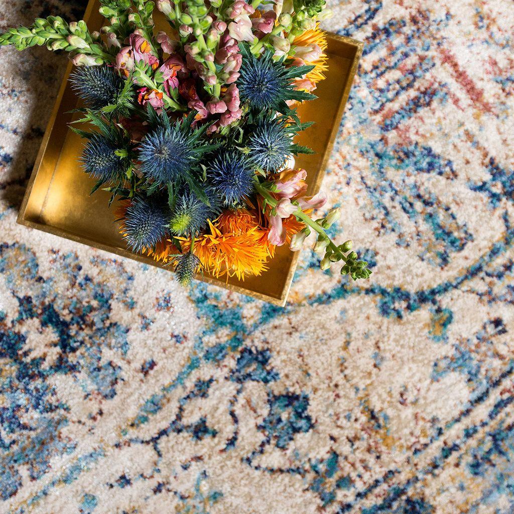 Loloi Anastasia Distressed Framed Floral IV Rug