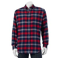 Big & Tall Croft & Barrow® Classic-Fit Plaid Flannel Button-Down Shirt