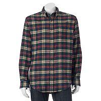 Big & Tall Croft & Barrow® Classic-Fit Plaid Flannel Button-Down Shirt