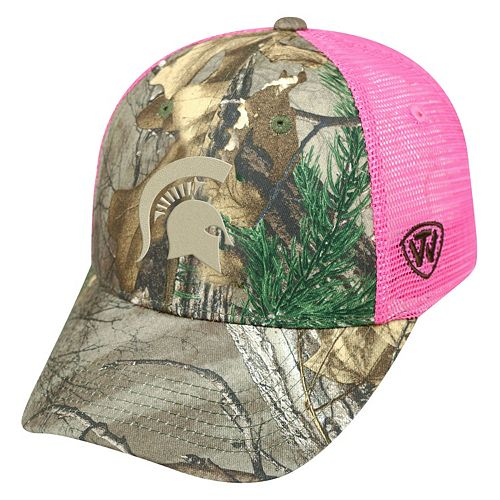 Adult Top of the World Michigan State Spartans Sneak Realtree Snapback Cap