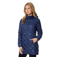 Women's Heat Keep Hooded Trench Puffer Jacket