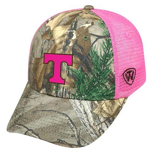 Adult Top of the World Tennessee Volunteers Sneak Realtree Snapback Cap
