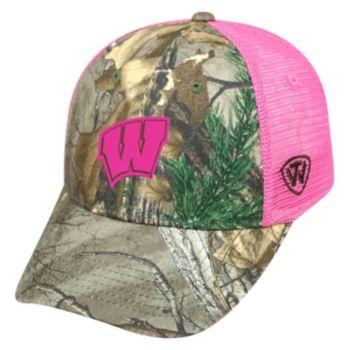 Adult Top of the World Wisconsin Badgers Sneak Realtree Snapback Cap