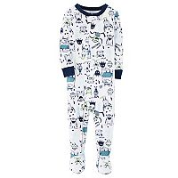 Toddler Boy Carter's Monster Footed Pajamas