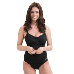 Women's Dolfin Aquashape Bust Enhancer Twist Front One-Piece Swimsuit