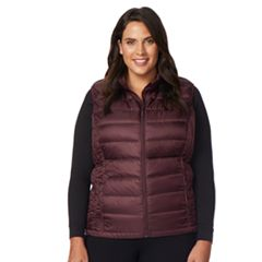 Plus Size Heat Keep Down Puffer Vest