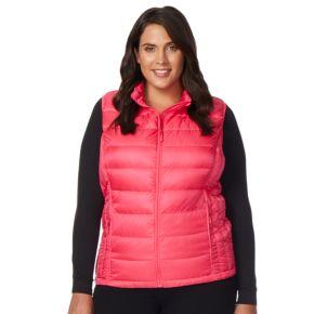 Plus Size Heat Keep Down Puffer Vest