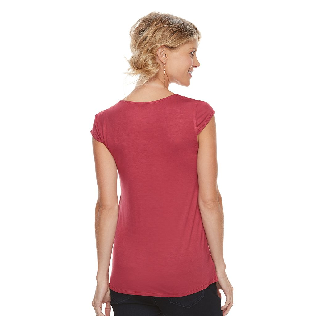 Maternity a:glow Asymmetrical Ruffle Top