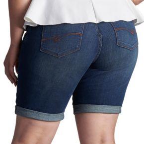 Plus Size Lee Gunnison Bermuda Jean Shorts