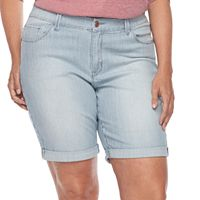 Plus Size Lee Gunnison Bermuda Jean Shorts