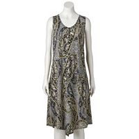 Women's World Unity Print Crochet Shift Dress