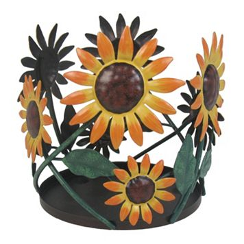 SONOMA Goods for Life™ Large Metal Sunflower Candle Jar Holder