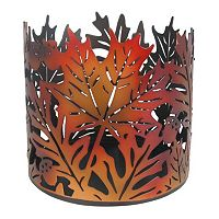 SONOMA Goods for Life™ Large Metal Leaf Candle Jar Holder