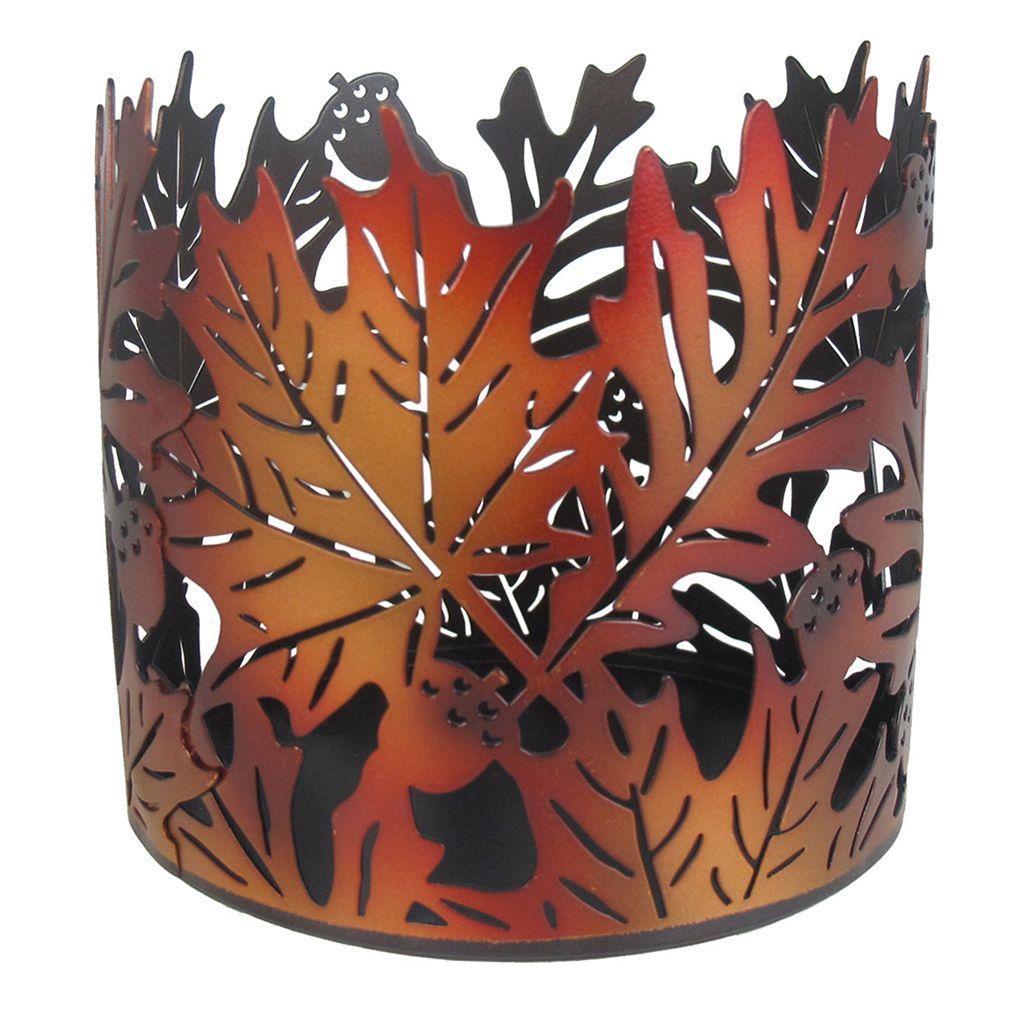 SONOMA Goods for Life™ Large Metal Leaf Candle Jar Holder
