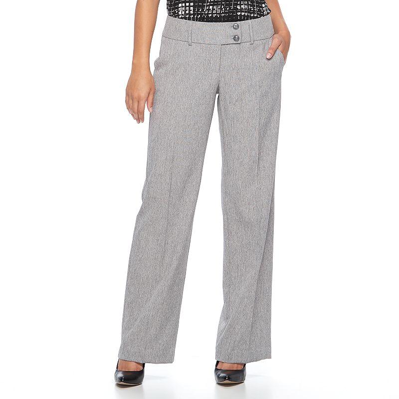 637a0c26577 Petite Apt. 9® Modern Fit Wide-Leg Dress Pants (Grey)