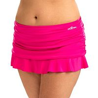 Women's Dolfin Aquashape Hip Minimizer Ruched Skirtini Bottoms