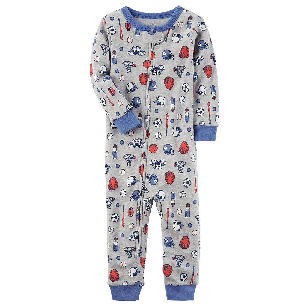 Toddler Boy Carter's Sports Footless Pajamas