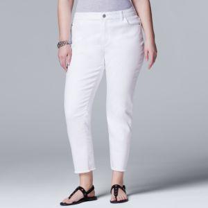 Plus Size Simply Vera Vera Wang Slimming Skinny Jeans