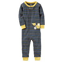 Toddler Boy Carter's Striped Construction Footless Pajamas