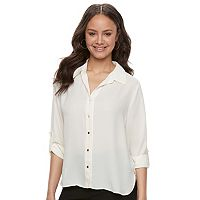 Juniors' Liberty Love Zipper-Back Blouse