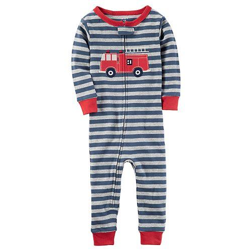 27367fc42 Toddler Boy Carter s Fire Truck Footless Pajamas