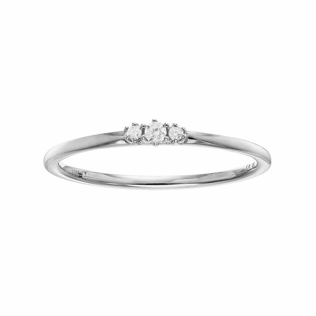 LC Lauren Conrad 10k Gold Diamond Accent 3-Stone Ring