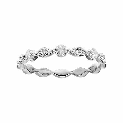 LC Lauren Conrad 10k Gold 1/5 Carat T.W. Diamond Leaf Ring