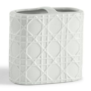 Kassatex Rattan Toothbrush Holder