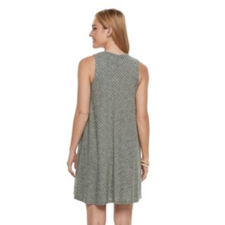 Petite SONOMA Goods for Life™ Chevron High-Neck Trapeze Dress
