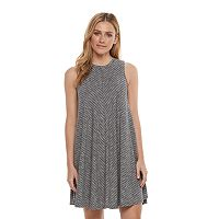 Petite SONOMA Goods for Life™ Chevron High-Neck Trapeze Dress