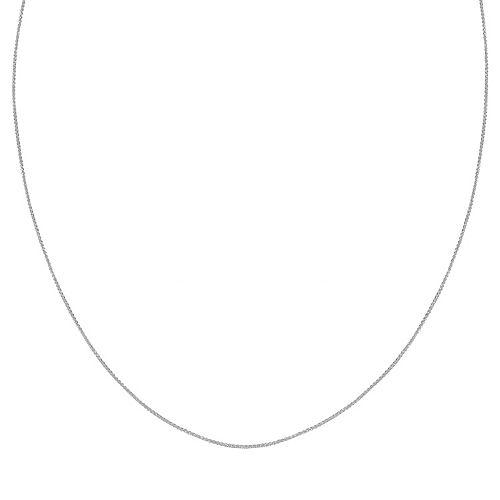 PRIMROSE Sterling Silver Wheat Chain Necklace