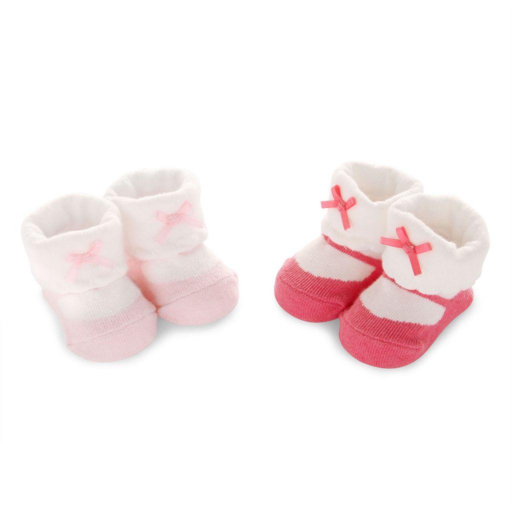 Baby Girl Carter's 2-pk. Mary Jane Bow Bootie Socks