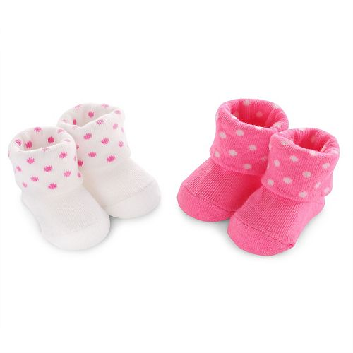 Baby Girl Carter's 2-pk. Dotted Bootie Socks
