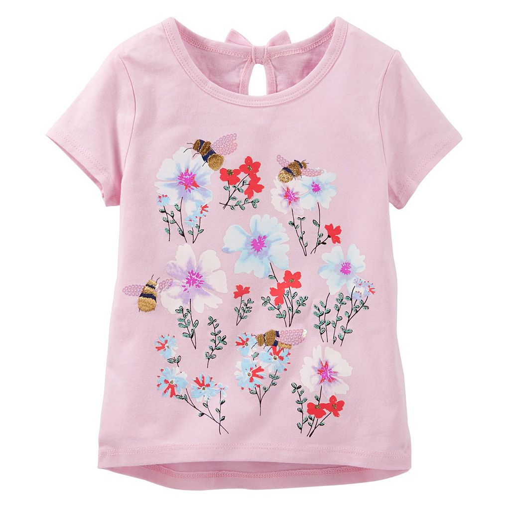 Toddler Girl OshKosh B'gosh® Metallic Embroidered Graphic Tee