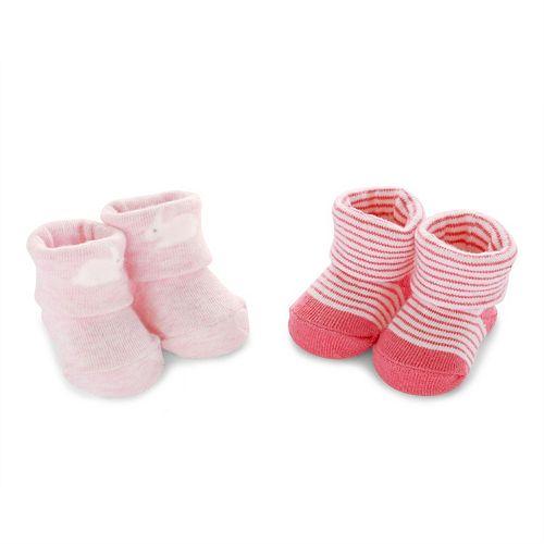 Baby Girl Carter's 2-pk. Bootie Bunny Socks